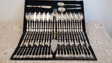 vintage italy arg 800 large cutlery fine dining elegant set 76 pcs+1needs