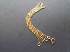 Necklace made of solid 18 kt gold – 45 cm.