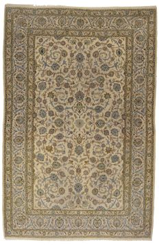 (Size: 327 x 213 cmm) Original, authentic antique Persian carpet, IRAN, Kashan, hand-knotted, with certificate of authenticity from an official appraiser – (Galleriafarah1970)