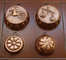 Copper pudding moulds