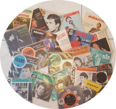 "ADAMO - nice collection of 7 original EP's (60's) + 15 original 7"" singles 