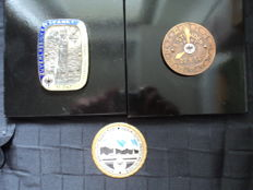 3 plaques, ADAC 50's, all made of metal and enamelled