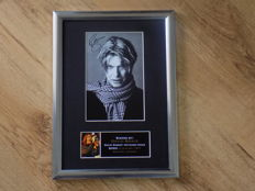 David Bowie signed ( printed ) framed photograph.