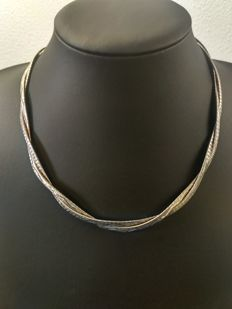Silver necklace 835k, length 46 cm, width 3 mm, weight 35 grams