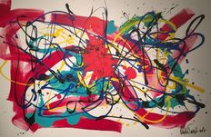 Rick Triest - The modern movement compositions - magenta Spiders