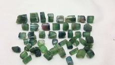 Very nice watermelon & indicolite blue and green tourmaline mix - 150 ct.