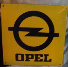 OPEL enamel advertising sign garage dealer