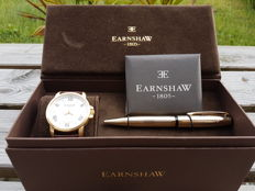 Thomas Earnshaw Fitzroy Automatic – Men's watch – 2017 – Including luxurious ballpoint pen