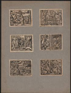 Anonymous - A group of six bible woodcuts - published by Maternum Cholinum in Köln in 1583