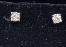 18k Gold Solitaire Diamond Stud Earrings - 0.23 ct