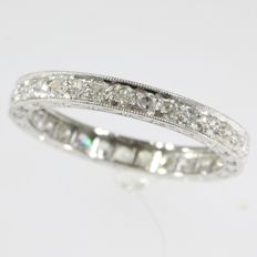 Diamond eternity band in platinum - Vintage anno 1930