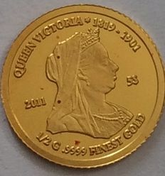 Nauru - 5 Dollars 2011 'Queen Victoria' - ½ g. Gold