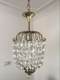 Antique Crystal Ceiling Light