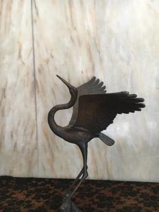 Heron in bronze - Italy - 20th century