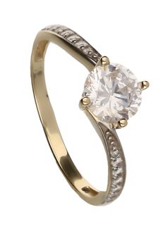 Ring – yellow gold – 8 kt. Below legal gold grade.