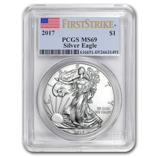 USA – 1 Dollar 2017 'American Eagle' PCGS MS69 FirstStrike – silver sivler