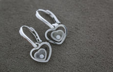 Chopard Happy Heart Earrings - 18k White gold - 0.2 ct diamonds