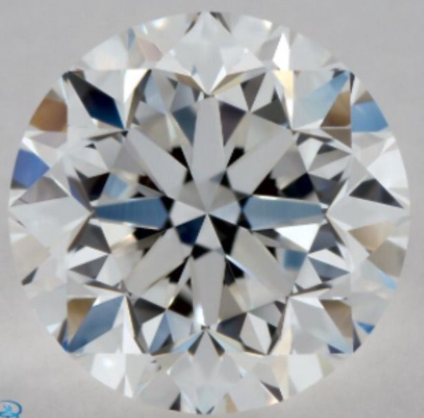 0.90CT D/VVS2 GIA Certified round brilliant cut diamond - Laser inscribed - Original image 10X