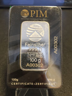 Switzerland - 100 g silver bar 'PIM' - silver