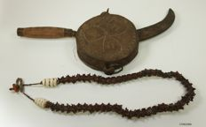 Shaman Snake necklace / Shaman knife - Tibet - Mid 20th century