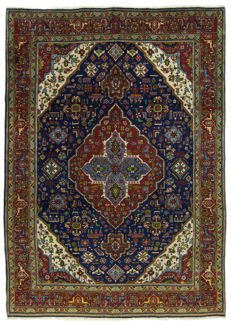 (Dimensions 286 x 200 cm) Authentic Original TABRIZ Persian Rug (IRAN) – With Certificate of Authenticity from official appraiser – GalleriaFarah1970