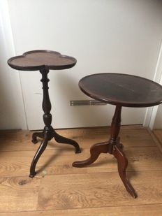 Two wooden wine tables, England, 1930s