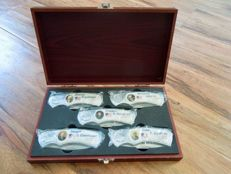 Five piece United States presidential knife set