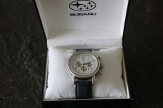 Subaru chronometer with leather strap from 2006