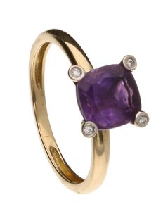 Ring - Bi-colour - Diamond - Amethyst