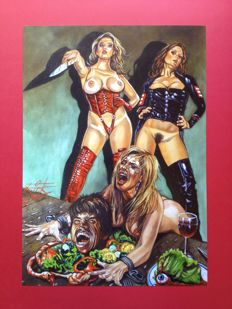 Horror Art; Rick Melton - Cannibal Hookers - 2016