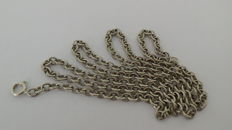 835 Silver Anchor Chain Necklace - 80 cm