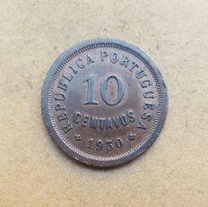Portuguese Republic – 10 centavos 1930. OUTSTANDING CONDITION - RARE