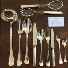 """CESA 1882"" Silver cutlery set for 12"
