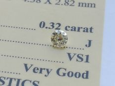 Diamond – 0.32 ct -  J/VS1 - VG/VG/VG ** No Reserve **