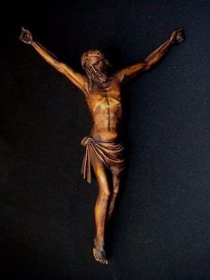 Antique Corpus Christi carved from lime wood - Belgium - 18th century