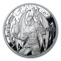 USA – 1 Oz – 2017 – Steampunk Series/Angels & Demons/Cornelius – silver