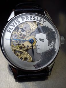 Limited Edition – Elvis Presley Molnija XL skeleton marriage men's wristwatch