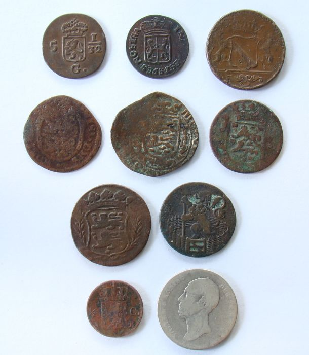 Provincial and kingdom - lot of various coins 1626/1848 (10 different).