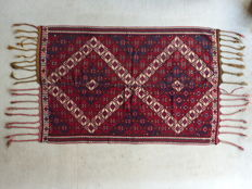 Turkish Kilim from south-east Anatolia, hand-woven, 211 x 141 cm, late 19th century.