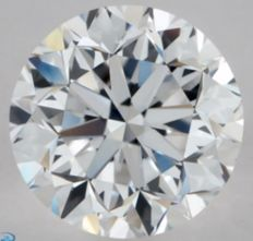 0.91CT D/VS1 GIA Certified round brilliant cut diamond - Laser inscribed - Original image 10X
