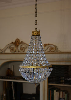 Hot air balloon shaped chandelier in Empire style - second half of the 20th century