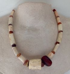 Strand of ancient and antique beads, mostly neolithic, ca. 60 cm