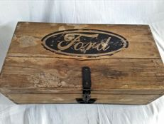 Old garage Ford wooden tool box