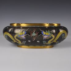 Cloisonné Jardiniere (flower container) – China – Around 1900