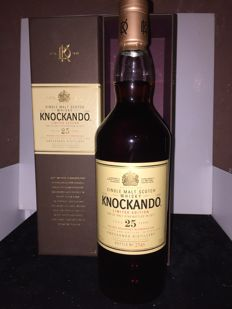 Knockando 25 year old 2011 special releases single malt scotch whisky  70 cl 43%