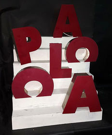 Advertising neon letters made by hand, Spain, second half of the 20th century