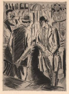André Dignimont (1891-1965) - Paris bar scene - 1927