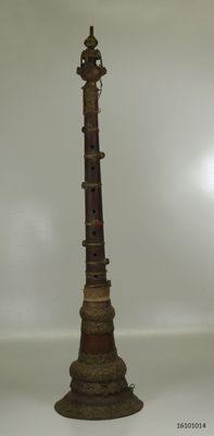 Shehnai, wood, copper - Tibet – mid 20th century