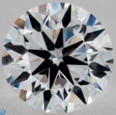 0.71CT E/VVS2 GIA Certified round brilliant cut diamond - Laser inscribed - Original image 10X