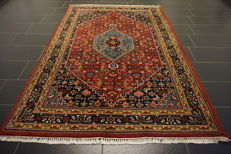 Luxurious hand-knotted oriental carpet, Indo Bidjar Herati, 175 x 250 cm, made in India